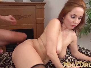 A mesmerizing old bitch bangs exhausting along with her stockings on