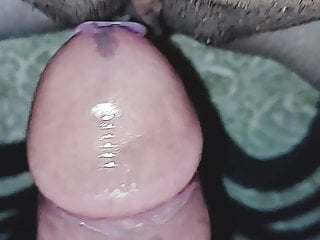 Shaved clean desi pussy and solid cock on the rock