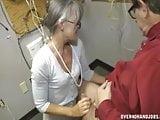 Granny jerking an old man