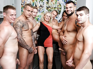 GangBang!  Everywhere! Grandma  First Ever Cum