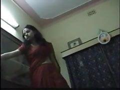Sexy beautiful desi wife in saree and couple