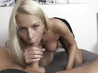 Sexy Blonde Escort fetches Pussy filling
