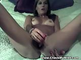 Check My MILF Tanned cougar with shaved pussy playing w toys