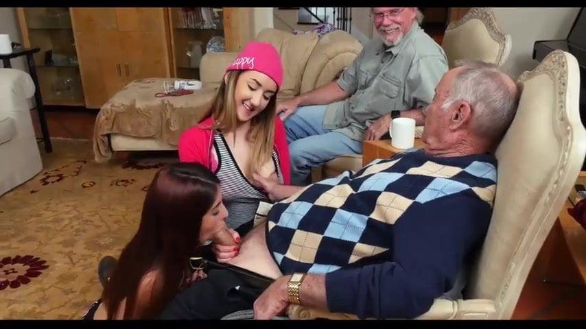 Busty Teen Fucked Old Man