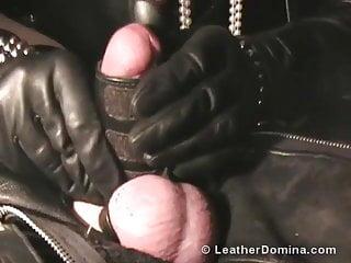 Domina leather bondage...