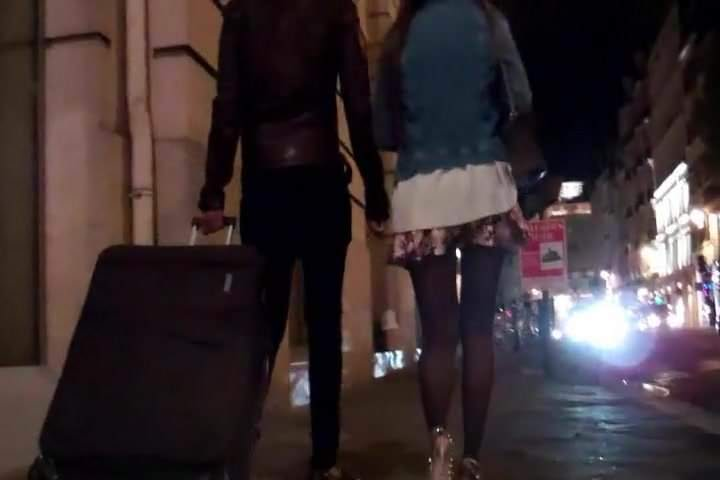 Camgorgeous Skinny Romanian Brunette In Leather Mini And