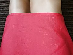 Lined office skirt with vintage slip