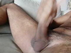 Masturbating on coach solo cumshit part 2