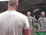 New buff army recruits suck and ride cock
