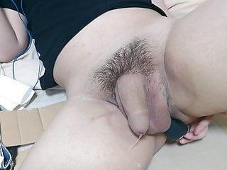Anal masturbation using enemagura