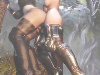 3d animation shemale knight fucks girl futanari sex...