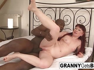 The very granny gets bbc...