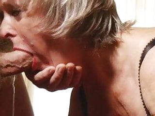 Granny trains deepthroat...