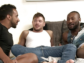 Blackwhitelatino threesome hot group with...