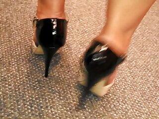 Big calves on stiletto heels