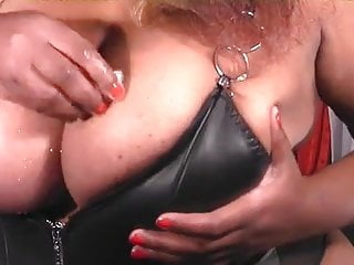 Bbw her nipples with some ice...