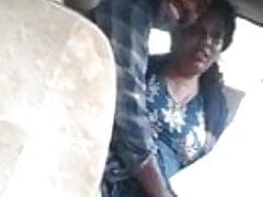 Mallu Aunty in Car with Boyfriend