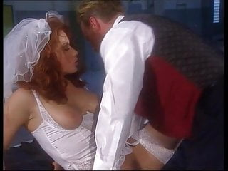 Stockings Threesome Wife video: Bride wants one last fling