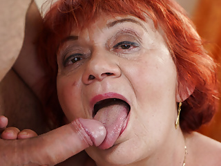 Redhead Guy BBW GILF Plow to Gets Delivery Marsha