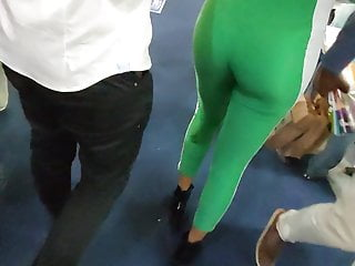 Super sexy tight asses in hot green body suits