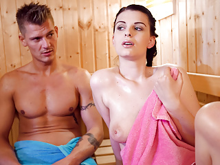 Letsdoeit i finally fucked step sister sauna...