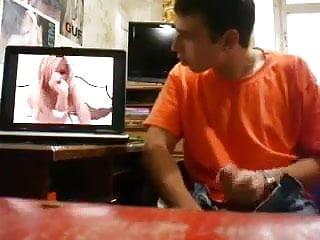 Str8 jerking watching porn...