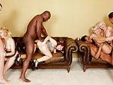 Interracial Anal Orgy on Mature Women