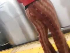 Jiggly Phat Ass Donk in stretchy bell bottom