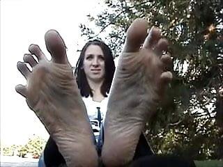 With big feet no sound...