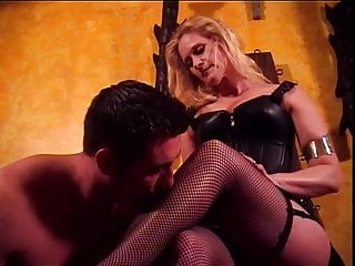 Mistress Amberle has her feet licked by her slave