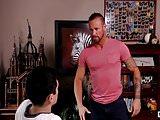 Pervert Michael Roman punishes Xavier Ryan with hard cock