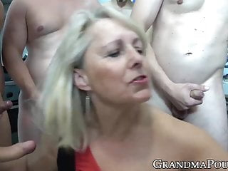 hung gang males granny by Pretty many banged