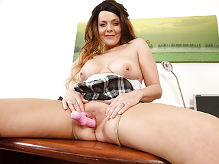 Gemma gold gets naughty in sheer tights...