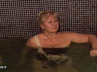 Mature ladies in shower and sauna...