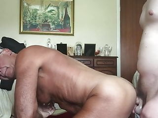 Handsome by dildo and cock 1...