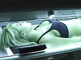 Farting on the tanning bed