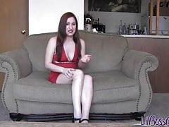 Virgin dressed like a diaper girl