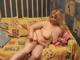 Horny Chubby Fat Blonde loves to masturbate and show body