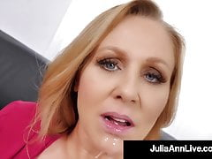 Busty Towheaded Cougar Julia Ann Hatch Ravages A Rock Rock Hard Dick!