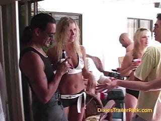 A few trailer park party scenes...