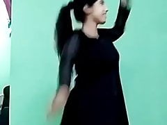 Ajina Menon Sexy Black Frock Tik Tok Actress
