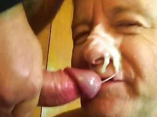 Video old faggot facial...