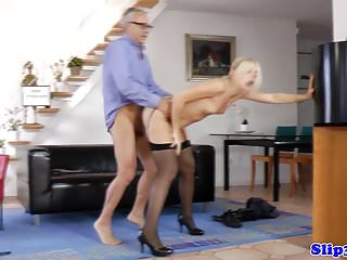 Young blonde mans cock at home...