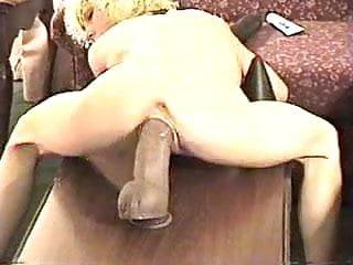 Huge Dildo Inside Tight Pussy