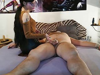 Sexy goth dominatrix smothering her slave pt2 HD