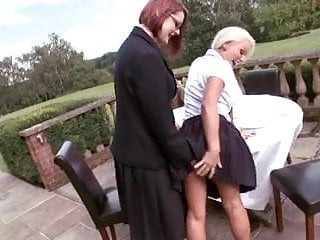 British lesbians get it on outdoors