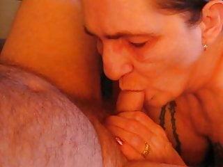 Mm sucking husband cock mmm love his cum...