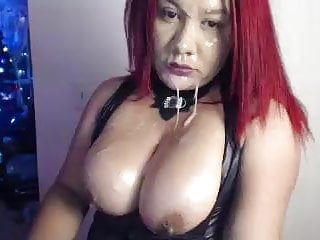 camwhore deepthroats dildos and drools on her big titsporno videos