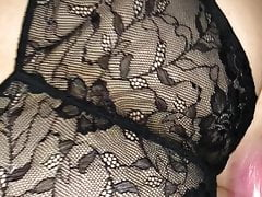 Cum on panties with dirty talk about threesome