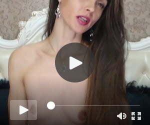 Fantastic Long Haired Brunette Striptease, Long Hair